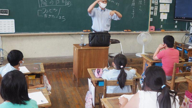 地元小学校でお米の授業を行いました。